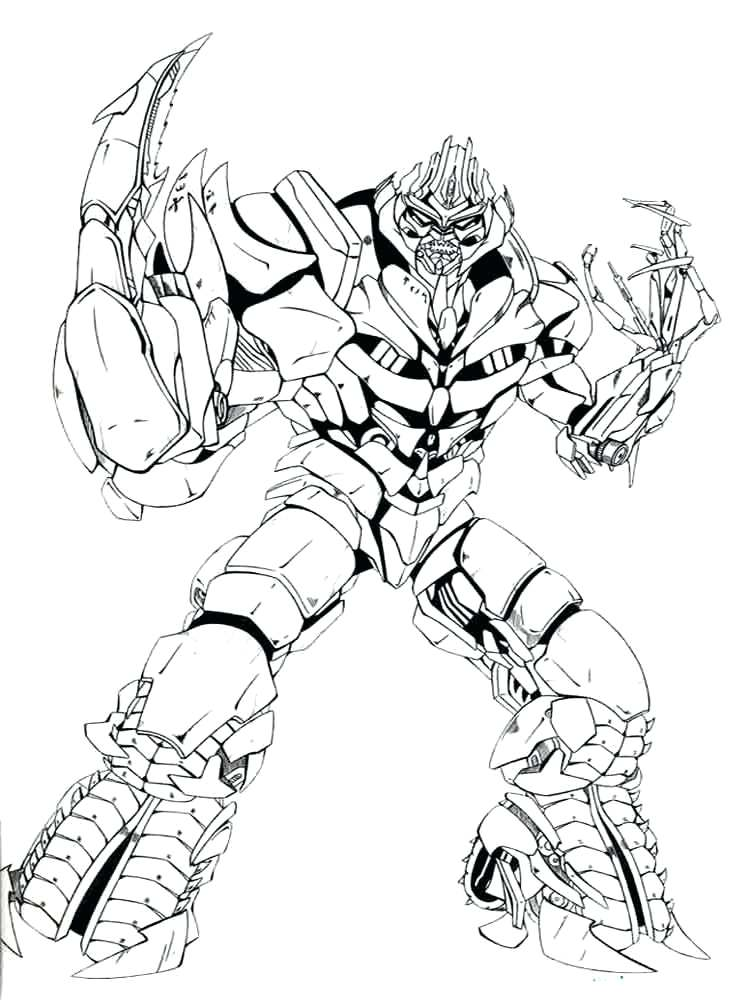 Transformers Megatron Coloring Pages at GetColorings.com