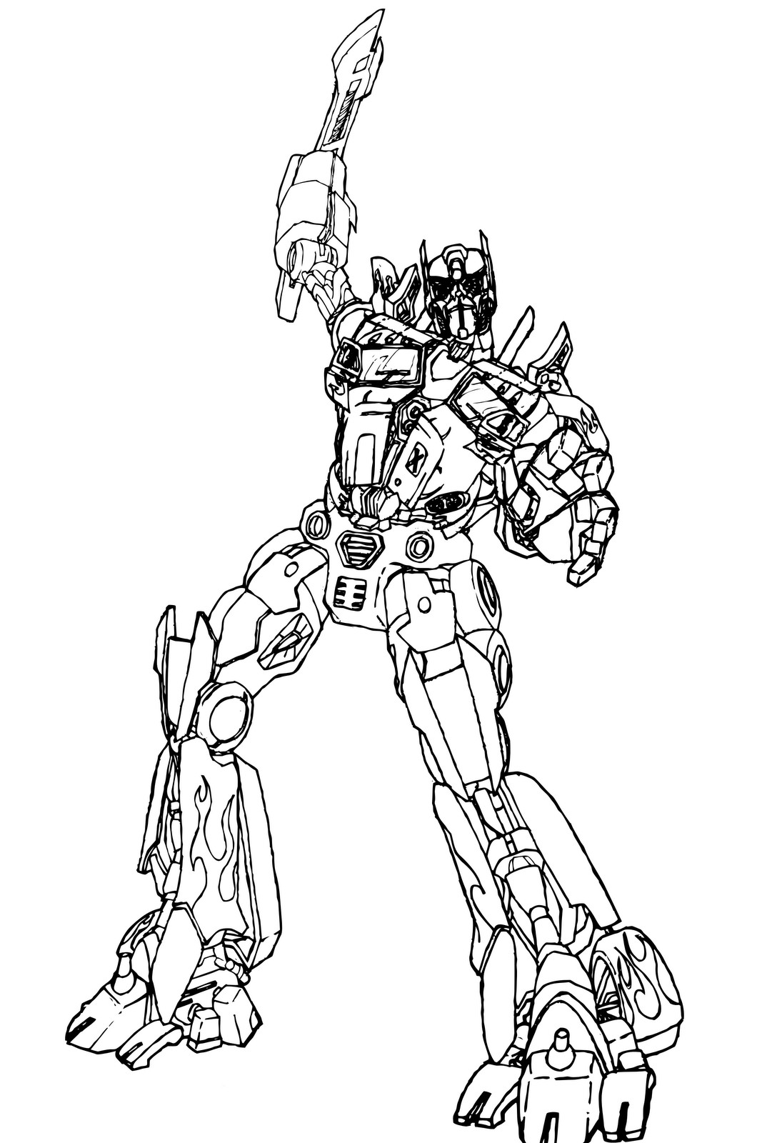 Transformers Prime Coloring Pages at GetColorings