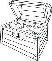 Treasure Box Coloring Page at GetColorings.com   Free ...