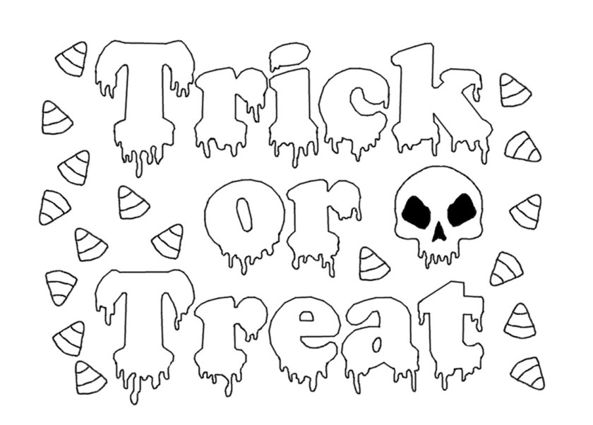 trick or treat coloring pages at getcolorings  free
