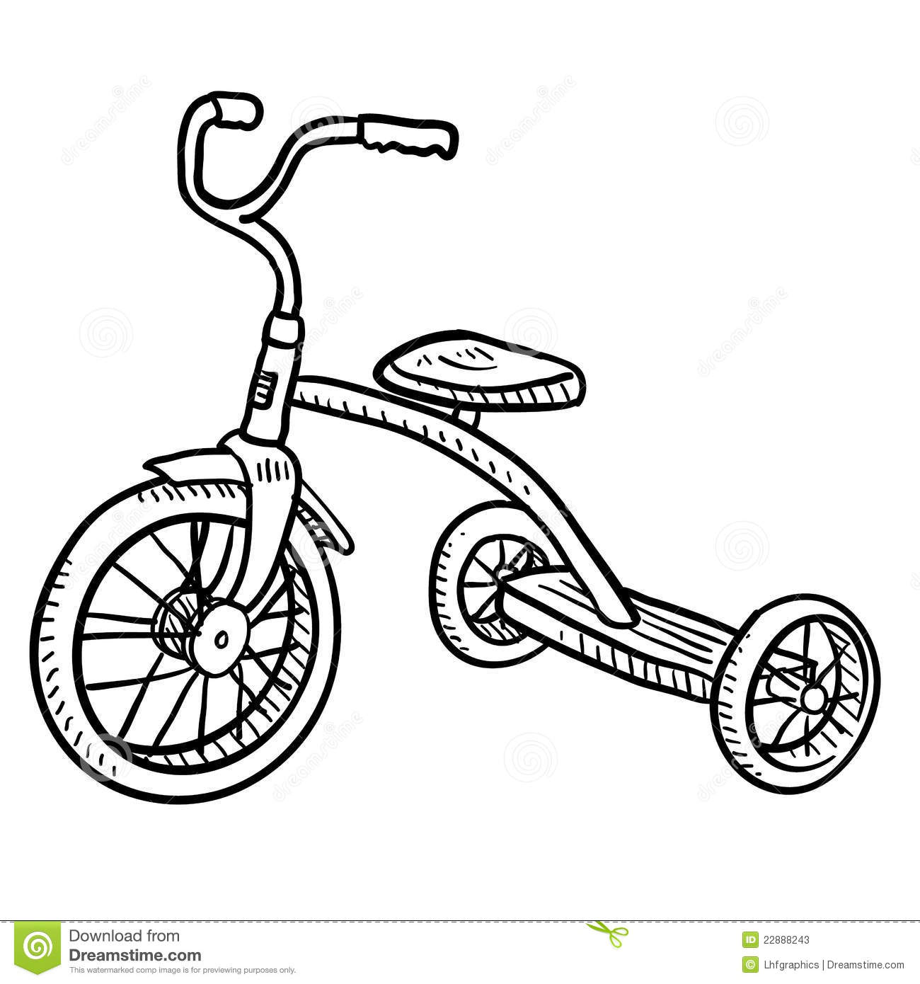 Tricycle Coloring Page At Getcolorings