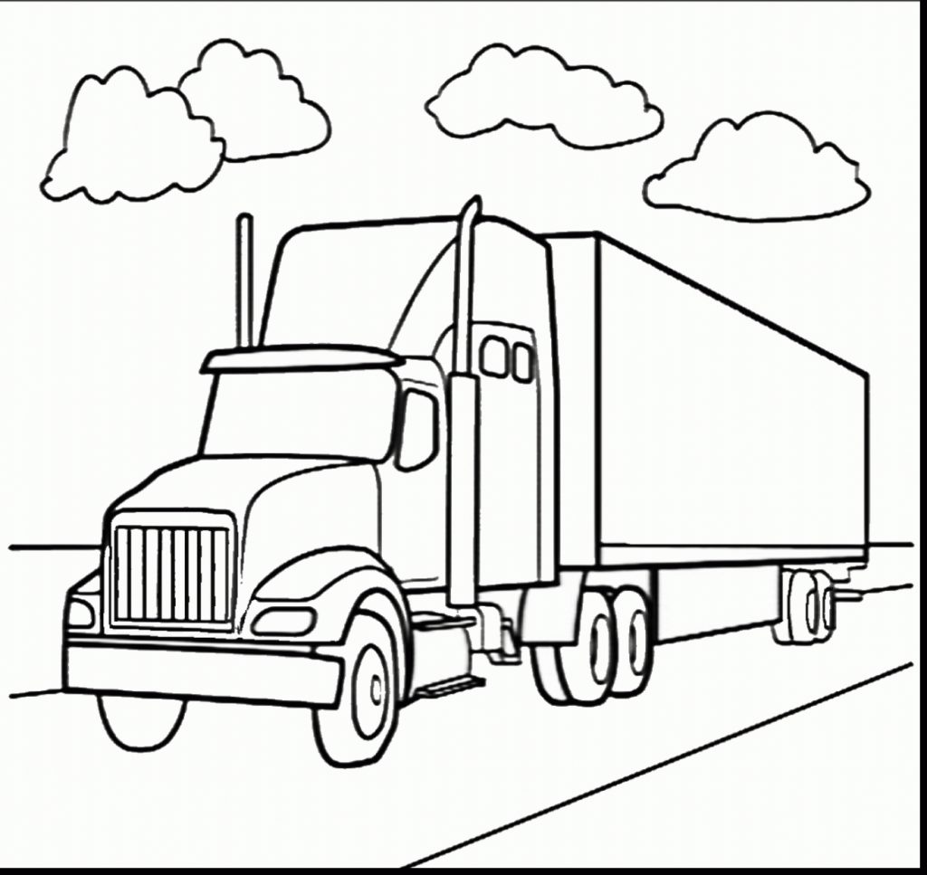 Truck Coloring Pages For Preschoolers At Getcolorings