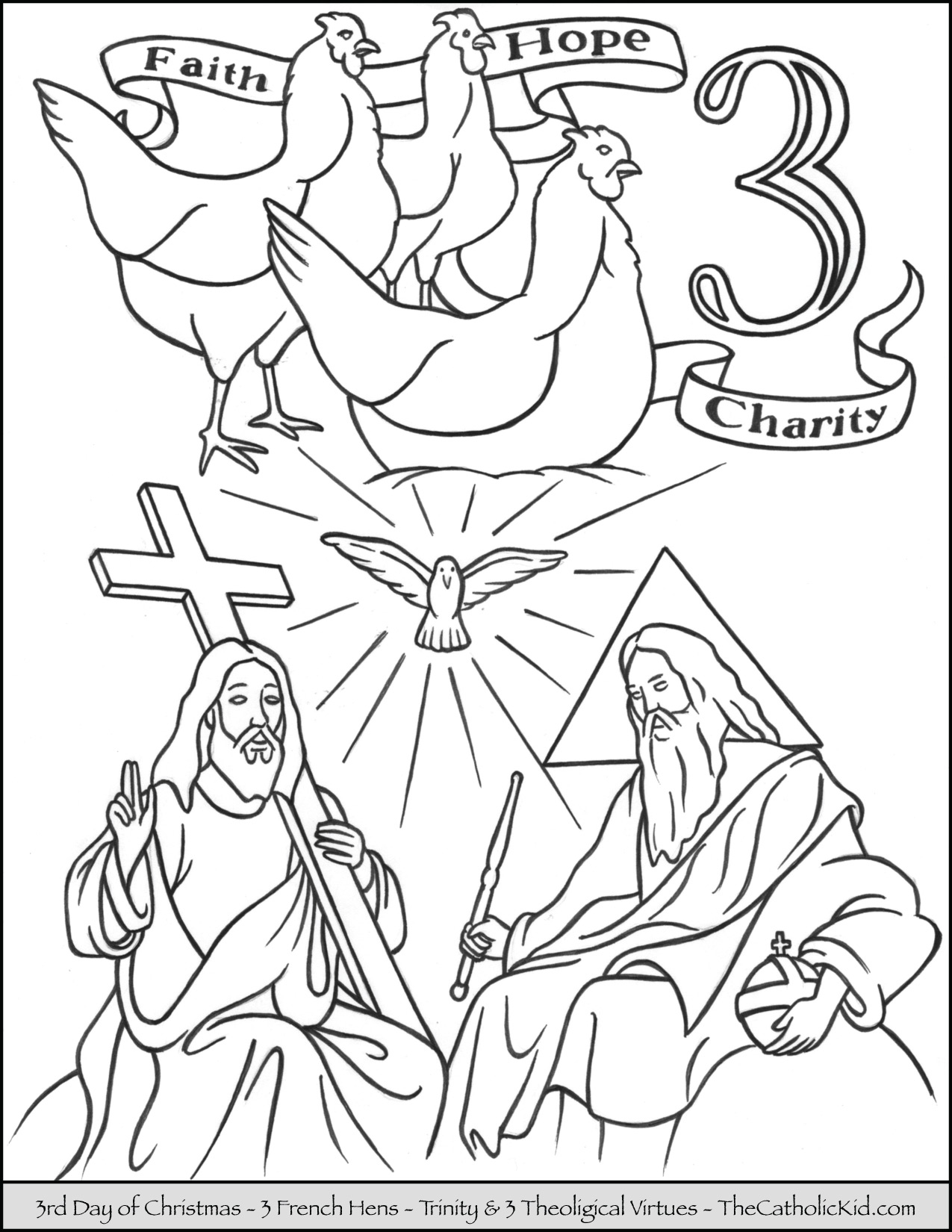Twelve Days Of Christmas Coloring Pages Free At