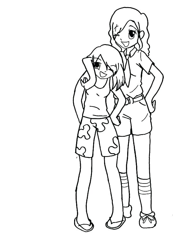 Best Friend Coloring Pages For Girls at GetColorings.com