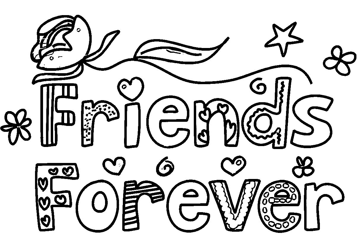 Two Best Friends Coloring Pages At Getcolorings