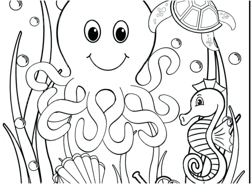 Underwater Animals Coloring Pages at GetColorings.com