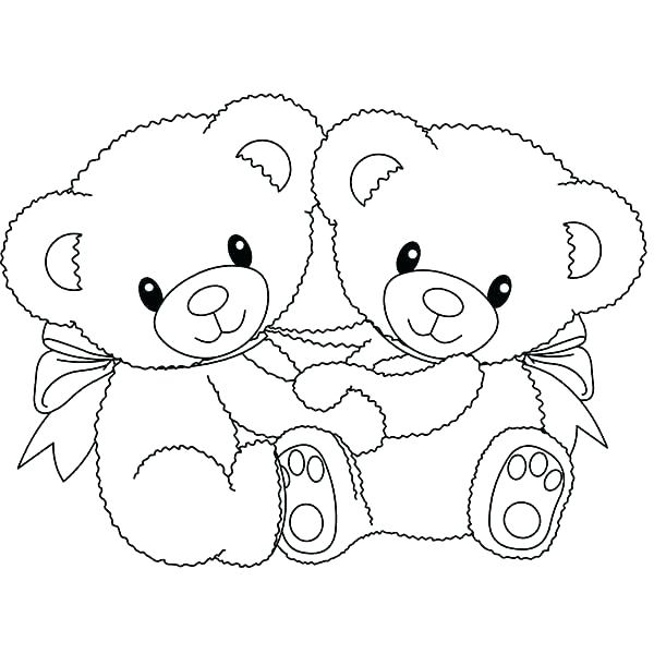 Valentine Teddy Bear Coloring Pages at GetColorings.com