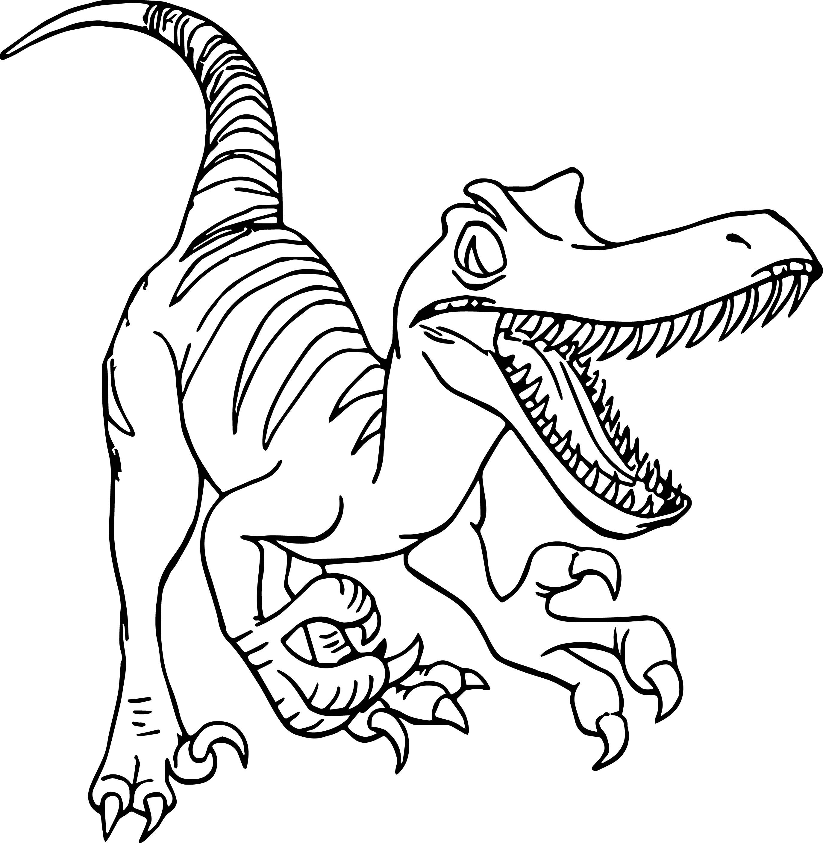 Velociraptor Printable Coloring Pages At Getcolorings