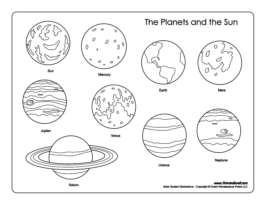 Venus Planet Coloring Pages At Getcolorings