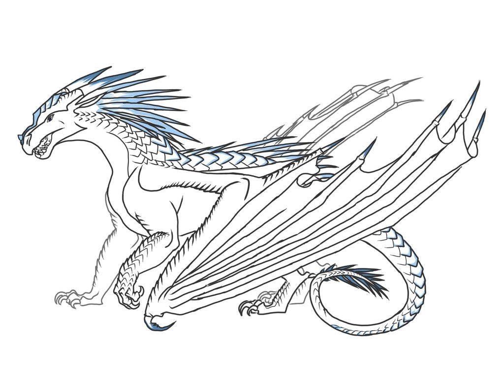 Wings Of Fire Dragon Coloring Pages at GetColorings.com