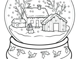 Winter Landscape Coloring Pages at GetColorings.com   Free ...