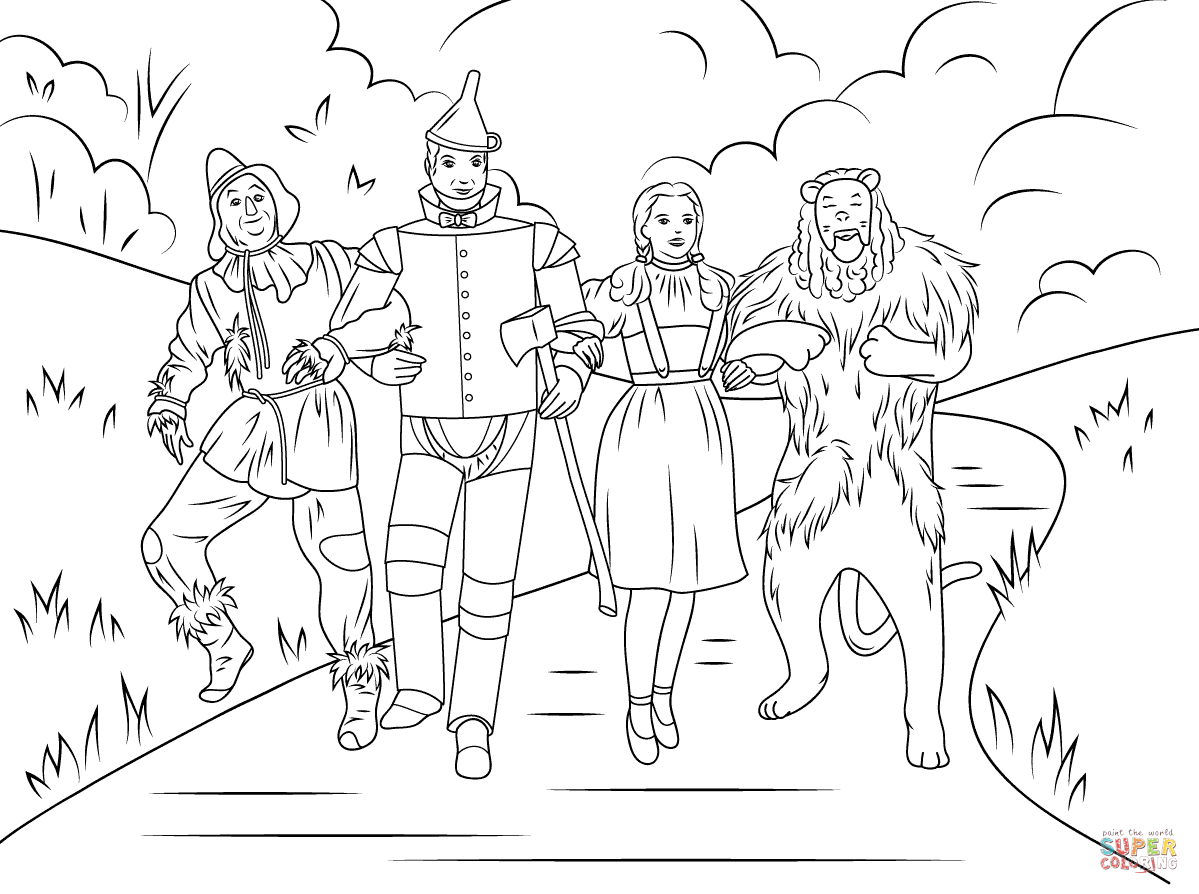 Wizard Of Oz Coloring Pages To Print at GetColorings.com