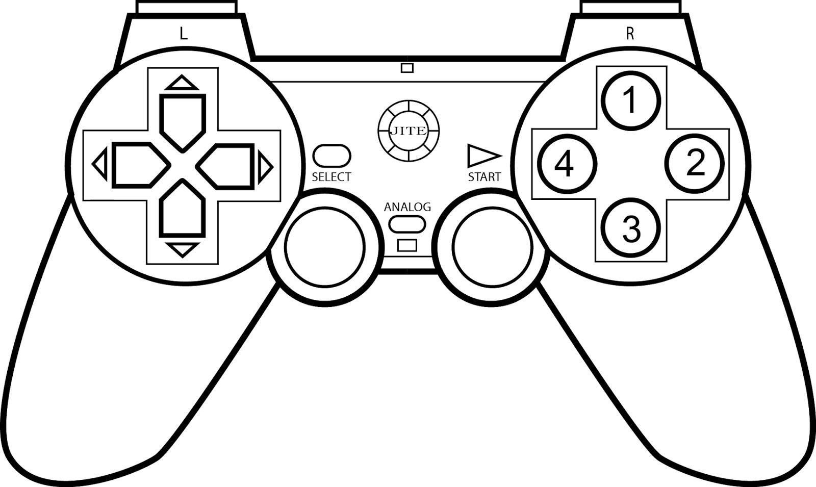 Xbox Controller Coloring Pages At Getcolorings