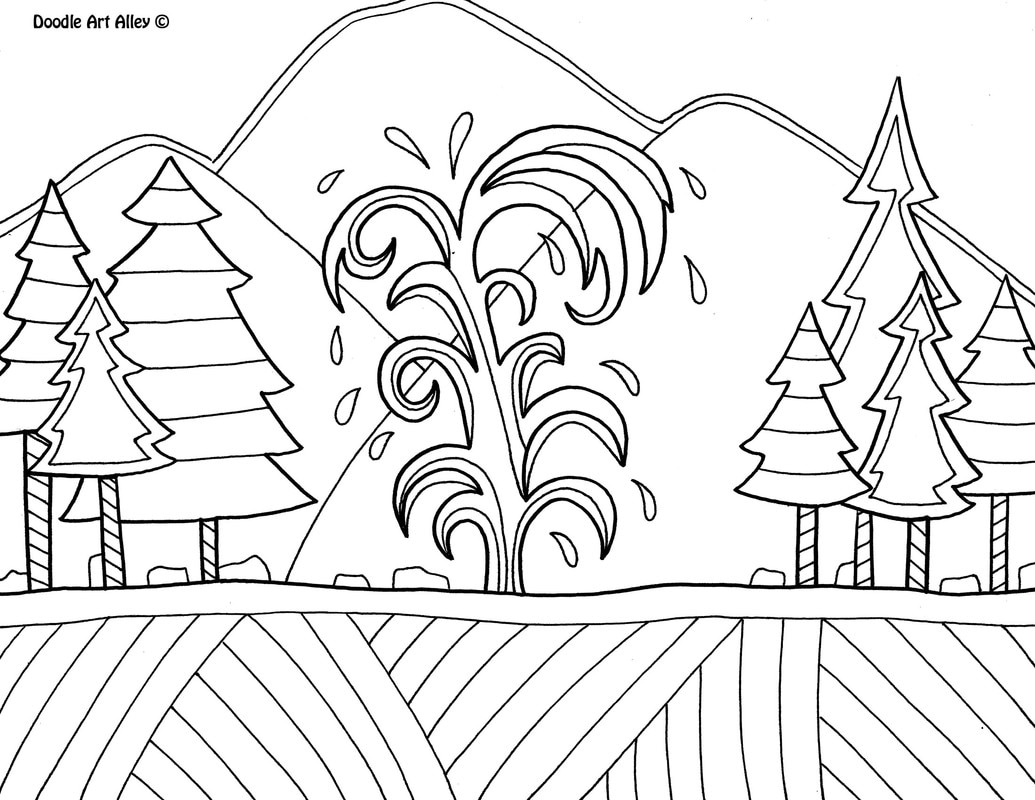 Yellowstone National Park Coloring Pages at GetColorings