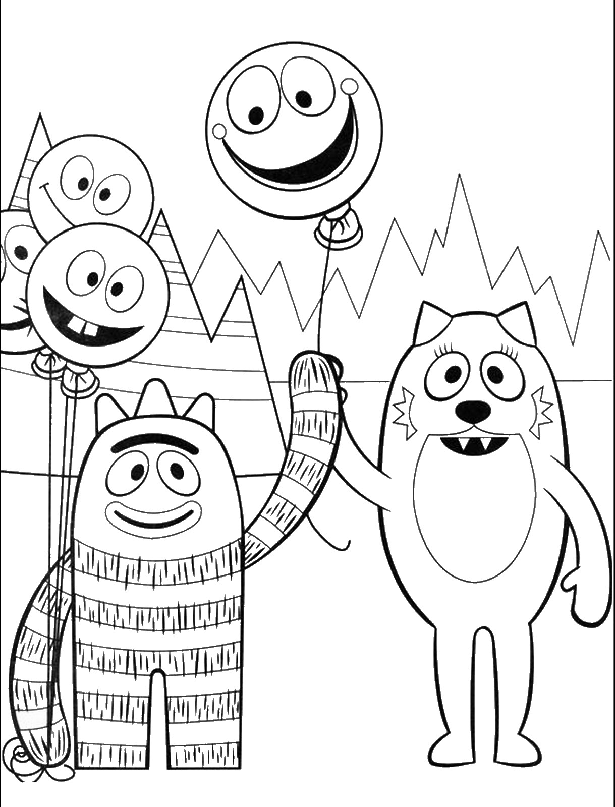 Yo Gabba Gabba Coloring Pages At Getcolorings