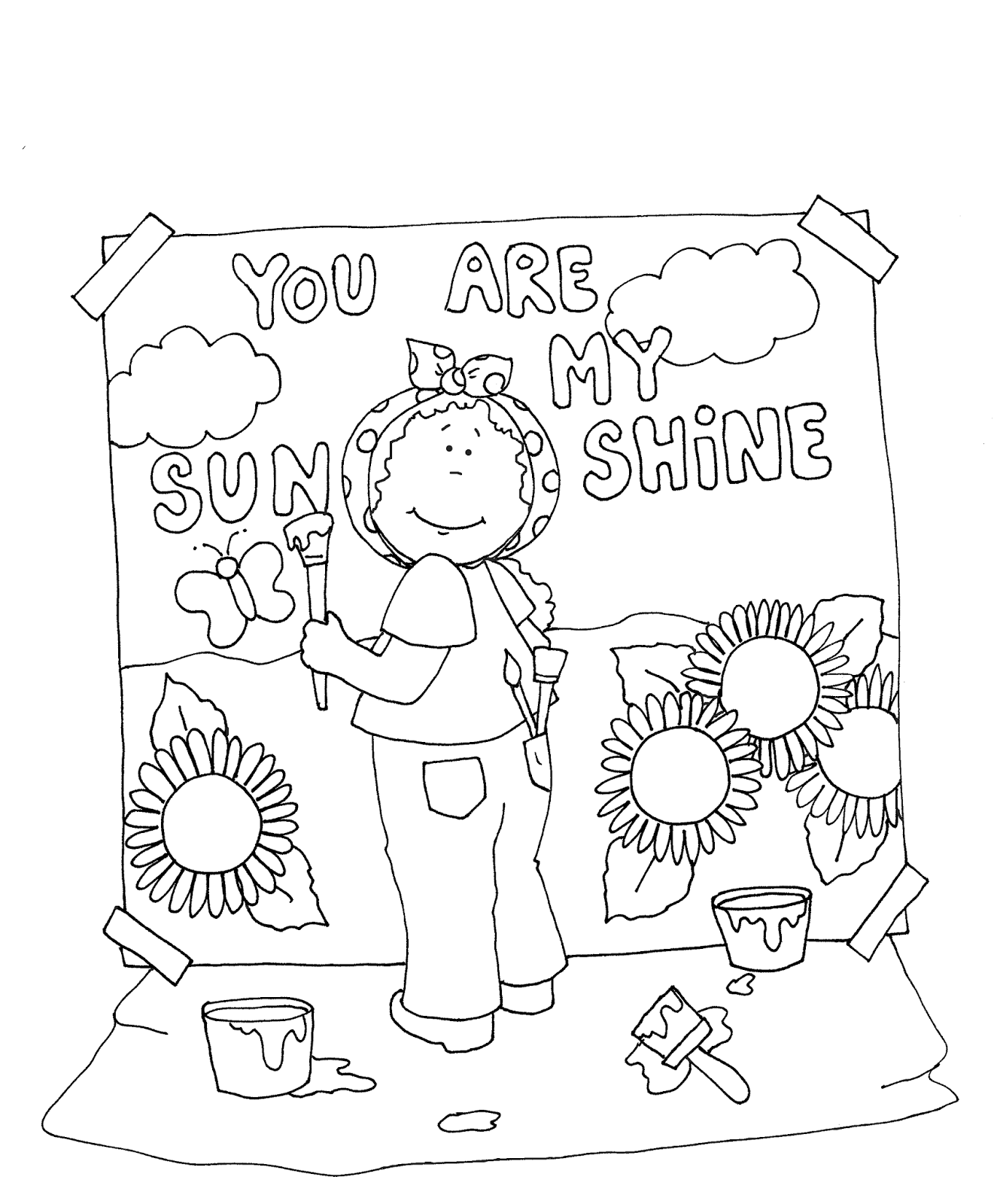 You Are My Sunshine Coloring Page At Getcolorings