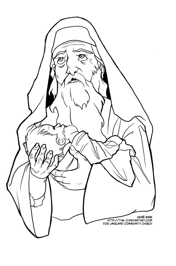 Zechariah And Elizabeth Coloring Page at GetColorings.com