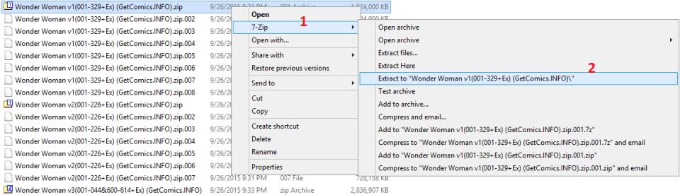 GetComics UnZip Slit Files