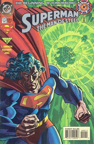 Superman – The Man of Steel #0 – 134 + 1,000,000 + Annuals (1991-2003)