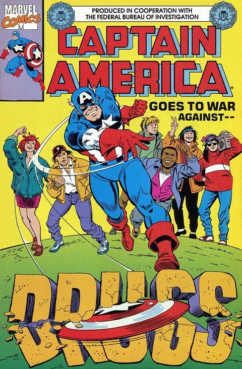 Captain America Goes To War Against Drugs (FBI Edition)