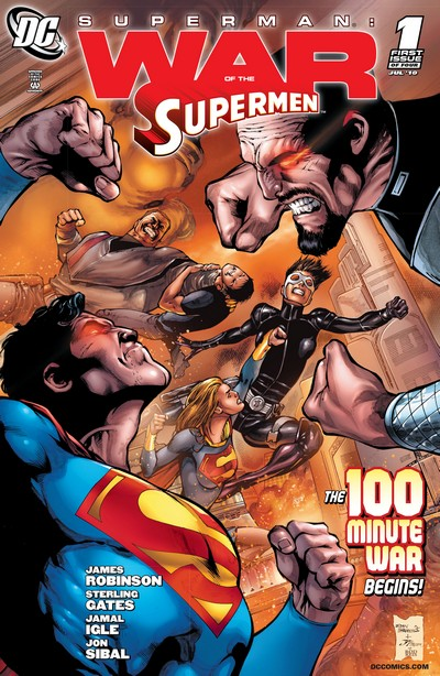 Superman – War of the Supermen #1 – 4 + FCBD #0 (2010)