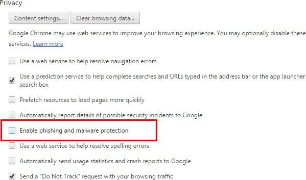disable-Google-Chrome-phishing-and-malware-protection