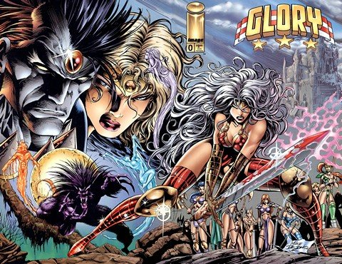 Glory Vol. 1 #0 – 24 + TPBs + Extras (Collection) (1995-2014)