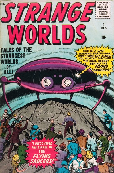 Strange Worlds Vol. 2 #1 – 5 (1958-1959)