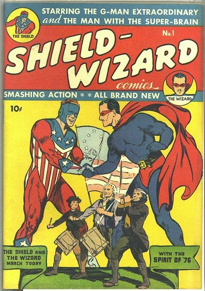 Shield Wizard Comics #1 – 13 (1940-1943)