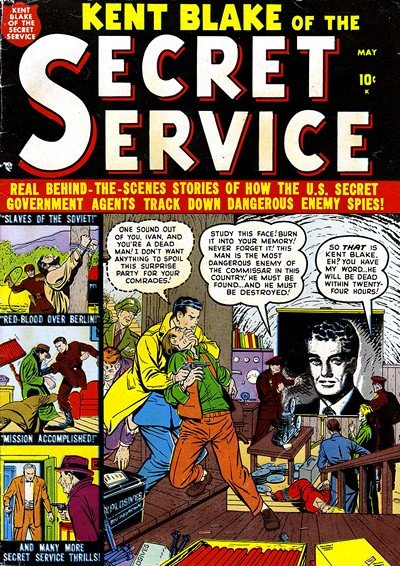 Kent Blake of The Secret Service #1-14 (1951)