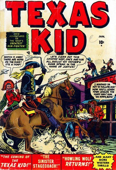 Texas Kid Vol. 1 #1 – 10 (1951-1952)