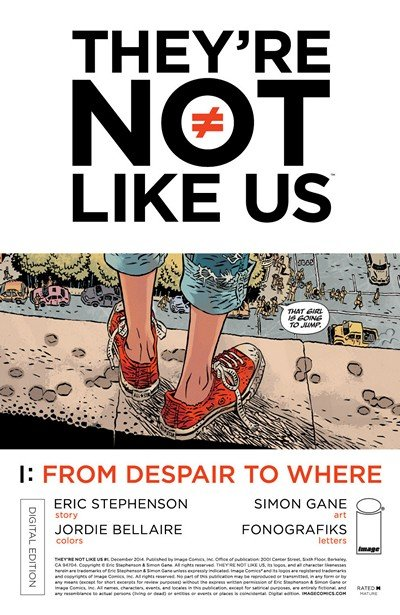 They're Not Like Us #1 – 13 + TPB Vol. 1 – 2 (2014-2017)