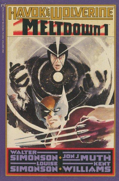 Havok and Wolverine – Meltdown #1 – 4 (1988)