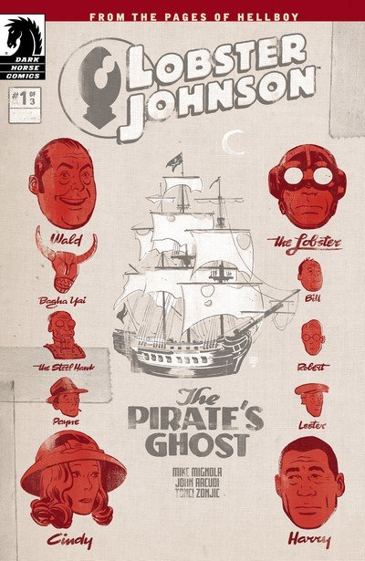 Lobster Johnson – The Pirate's Ghost #1 – 3 (2017)