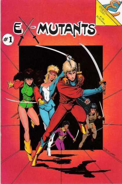 Ex-Mutants Vol. 1 #1 – 8 + Annual + Extras (1986-1987)