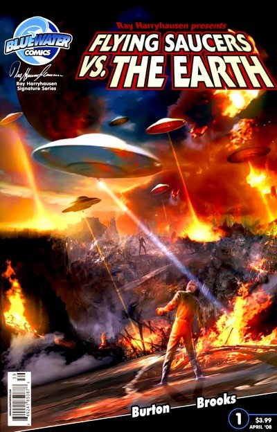 Flying Saucers Vs. The Earth #0 – 4 (2008-2012)
