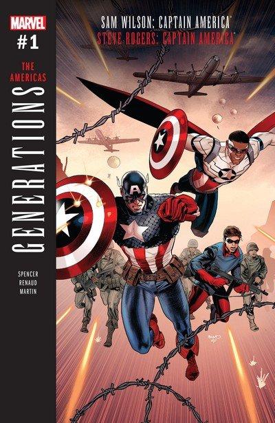 Generations – Sam Wilson Captain America & Steve Rogers Captain America #1 (2017)