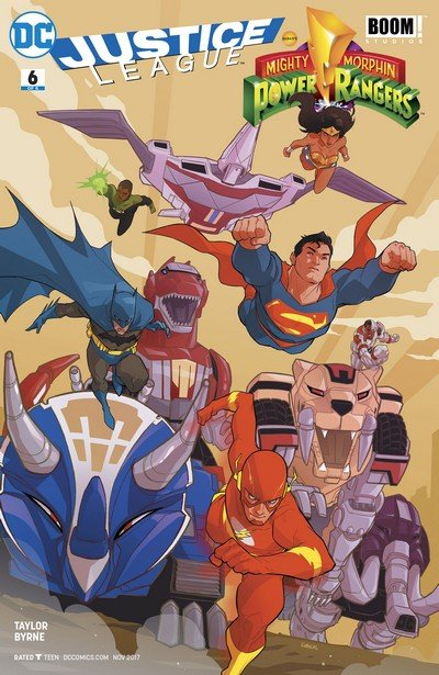 Justice League-Power Rangers #6 (2017)