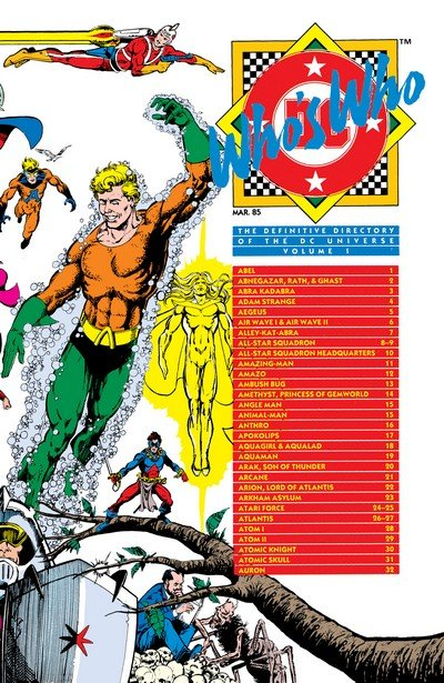 Who's Who – The Definitive Directory of the DC Universe #1 – 26 (1985-1987)