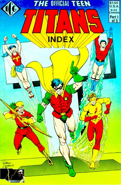 The Official Teen Titans Index #1 – 5 (1985)