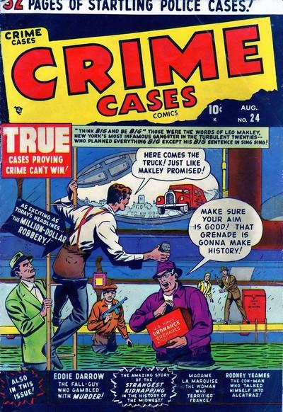 Crime Cases Comics #1 – 12 (1950-1952)