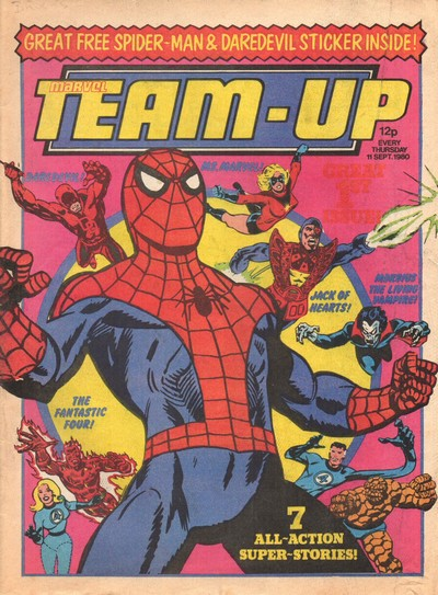 Marvel Team-Up #1 – 25 (1980-1981) (Marvel UK)