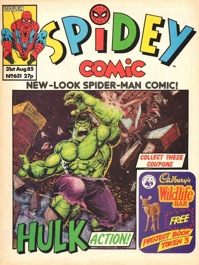 Spidey Comic #651 – 666 (1985-1986) (Marvel UK)