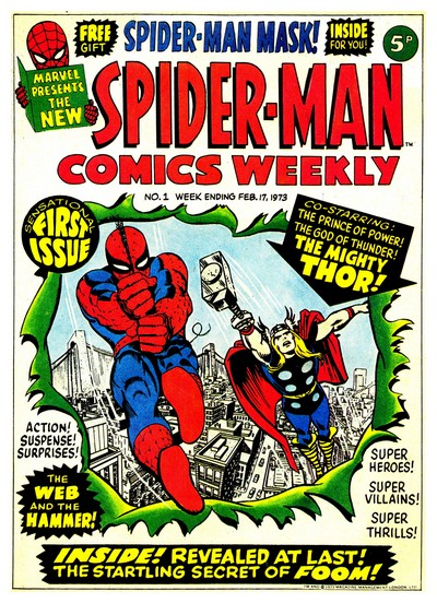 Spider-Man Comics Weekly #0 – 157 (1973-1976)