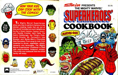 Stan Lee Presents The Mighty Marvel Superheroes Cookbook (1977)