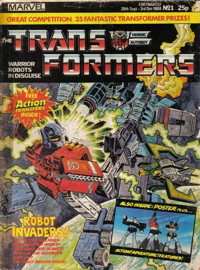 The Transformers #1 – 332 (1984-1992) (Marvel UK)