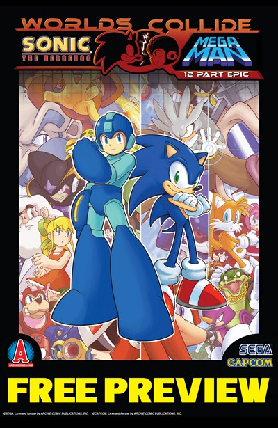 Sonic-Megaman (Crossover) #1 – 12 (2013-2014)