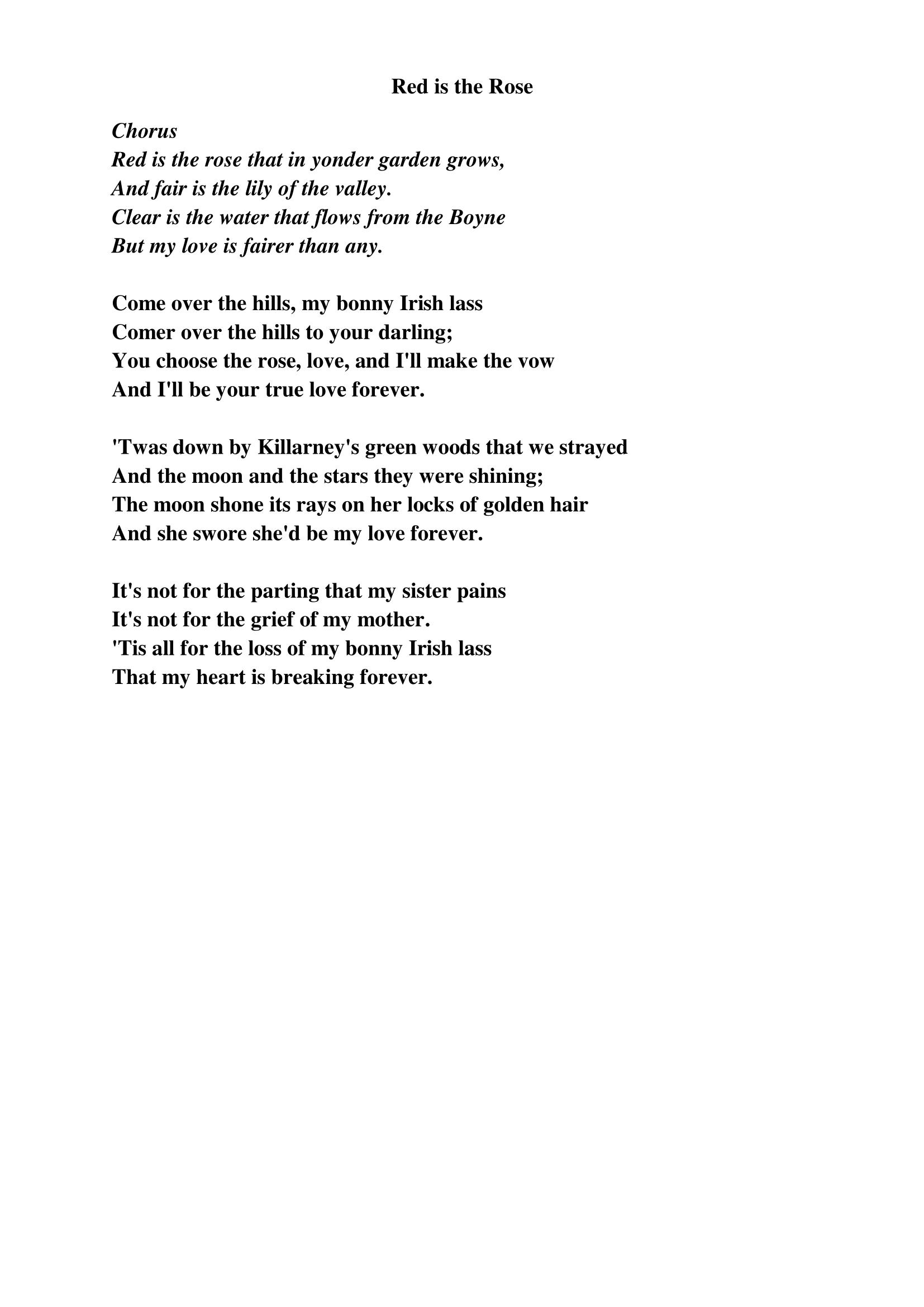 Red is the Rose lyrics – getcrackingguitar