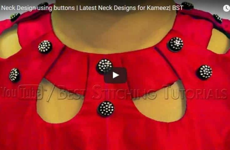 Kurti Neck Design Using Button Archives Get Easy Art And Craft Ideas