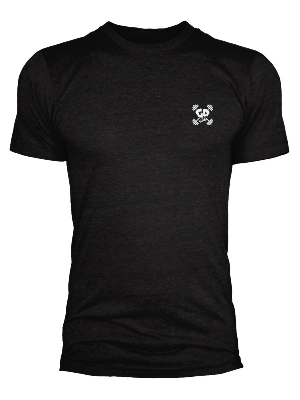 Get Down Logo Fitted Crew Neck T Shirt Black